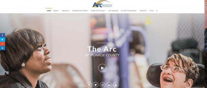 Arc of Monroe website design