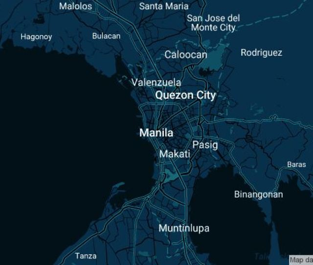 Coverage Map For Uber In Manila Philippines