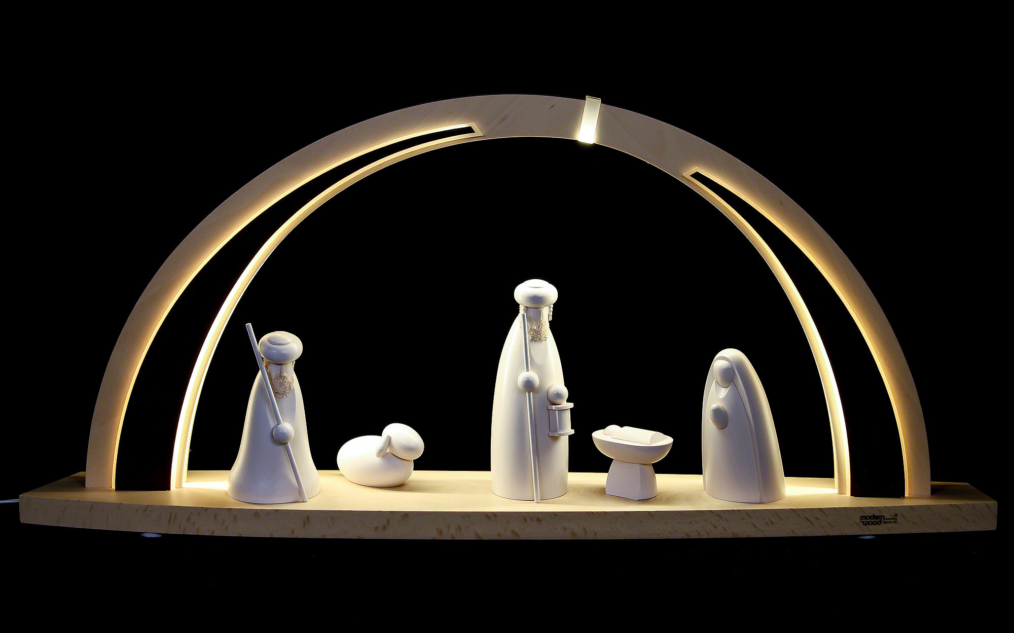 Large Wooden Picture Nativity