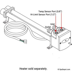 Watkins Hot Spring High Limit  Temp Sensor Kit  for No