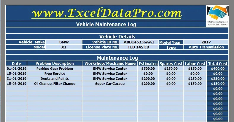 To make a computer system or network recognize you so that you can begin a computer session. Download Vehicle Maintenance Log Excel Template Exceldatapro