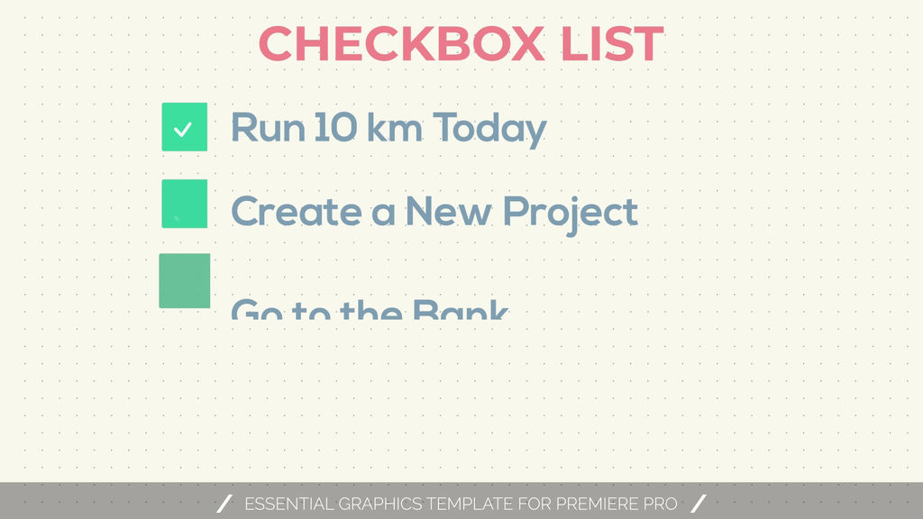 Download Checkbox Titles Motion Graphics Template | 11488554