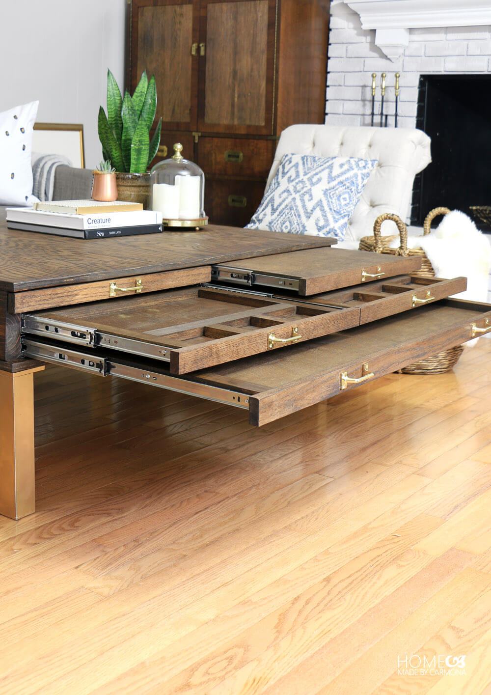 diy coffee table with pullouts home