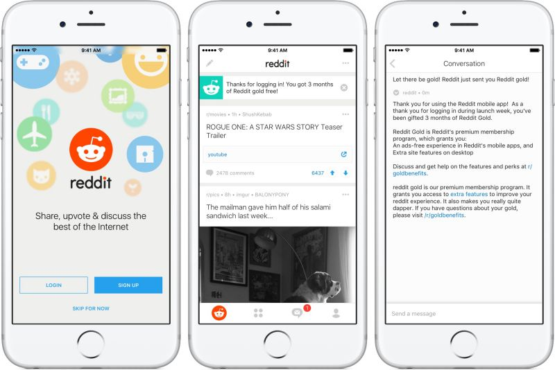 Reddit iOS App | Screenshot