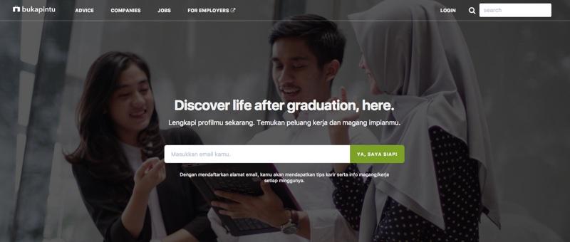 Bukapintu   Screenshot Homepage