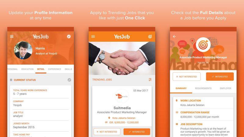 YesJob Aplikasi | Screenshot
