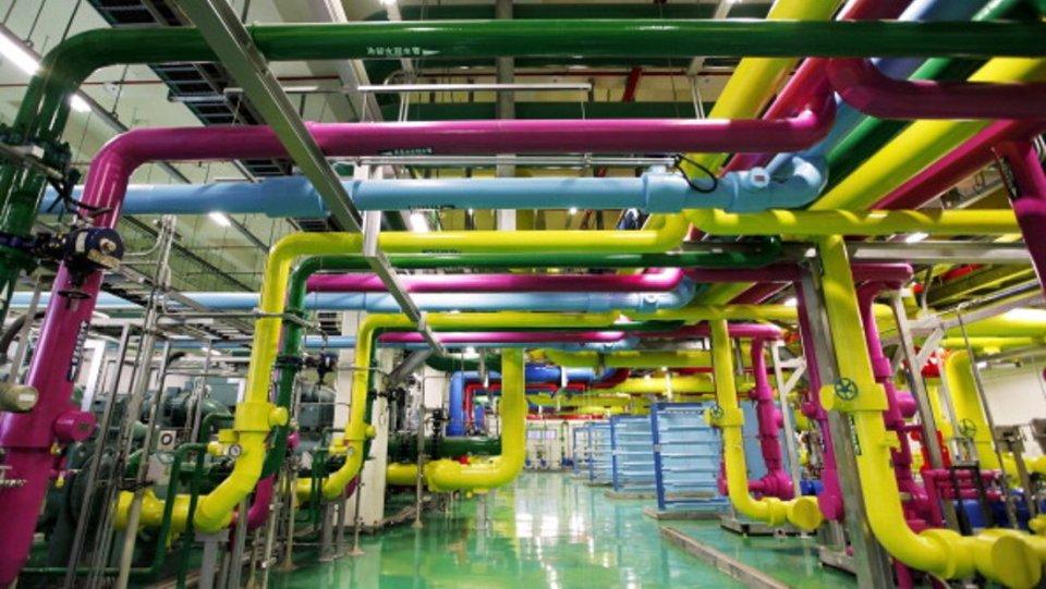 Pusat data Google di kawasan industri Changhua, Taiwan.