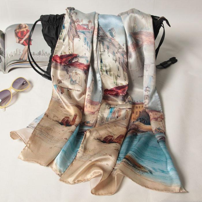 lenço de seda estampa digital