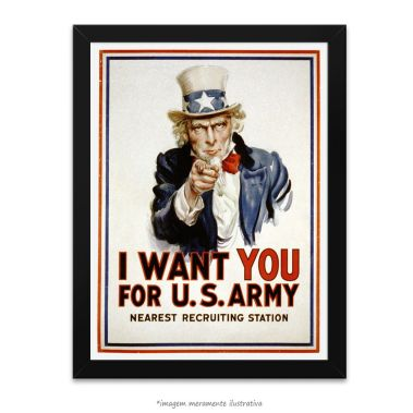 Poster I Want You, no QueroPosters.com