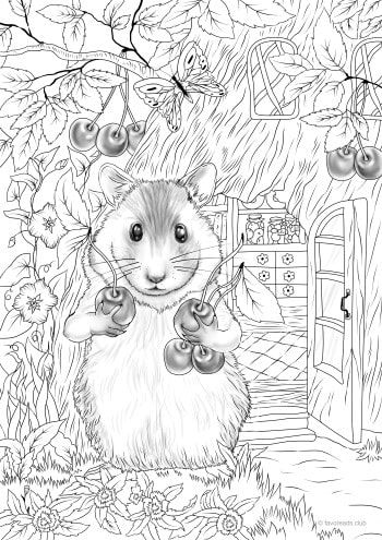 Hamster Favoreads Coloring Club