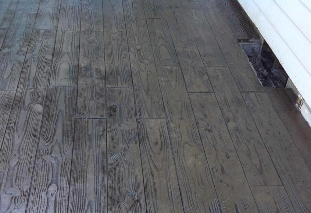 how to make concrete look like wood planks
