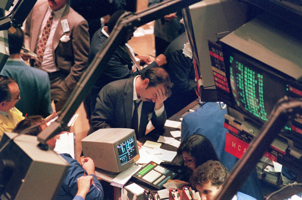 Stock 1987 Black Monday Market