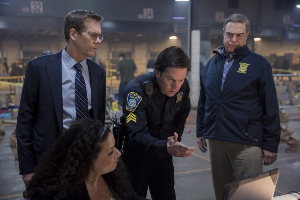 "Kevin Bacon, Mark Wahlberg and John Goodman in ""Patriots Day."" (Courtesy CBS Films)"