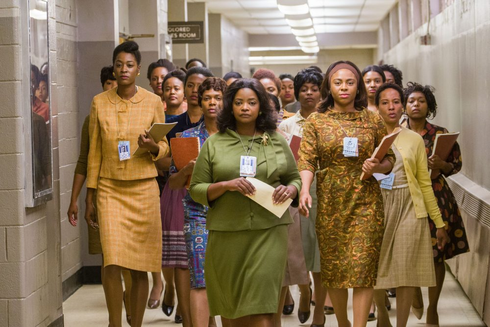 "Octavia Spencer leads the group in a scene from ""Hidden Figures."" (Courtesy Hopper Stone)"