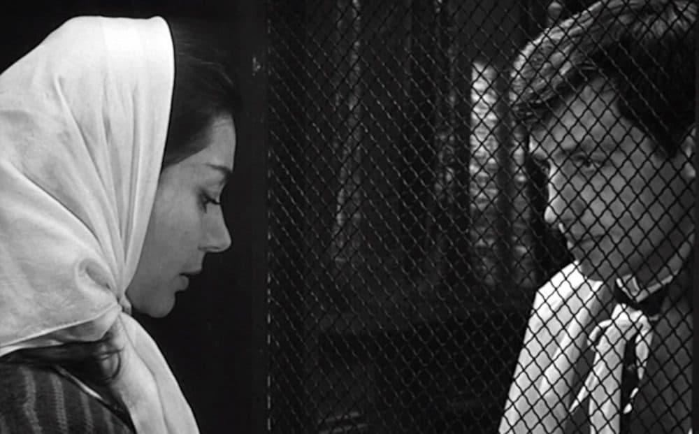 "Emmanuelle Riva and Jean-Paul Belmondo in Jean-Pierre Melville's ""Léon Morin, Priest."" (Courtesy Rialto Pictures)"