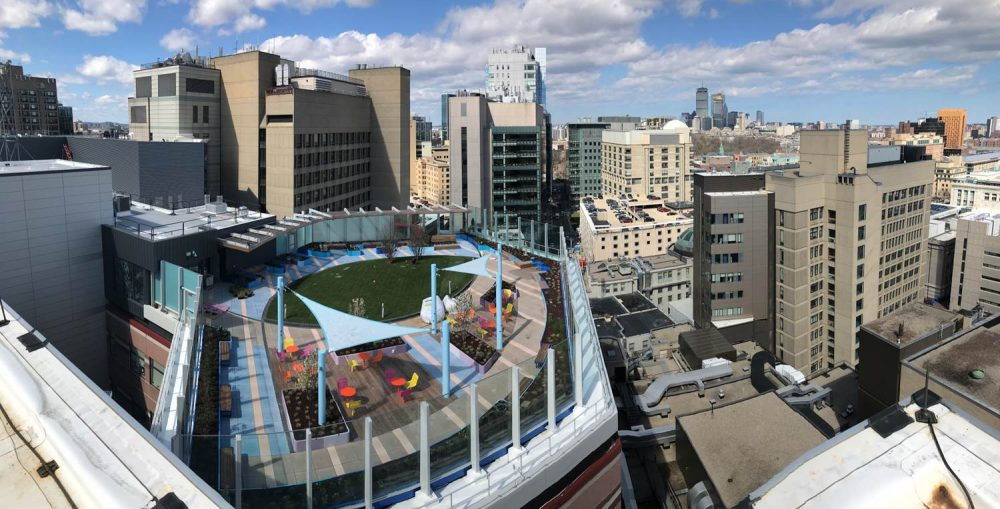 Boston Children S Hospital Opens Rooftop Garden Promised After Demolition Of Prouty Garden Commonhealth