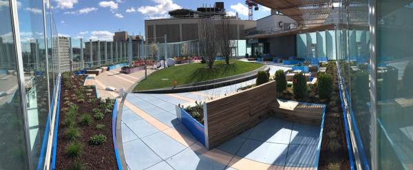 hospital rooftop gardens Boston Children's Hospital Opens Rooftop Garden Promised