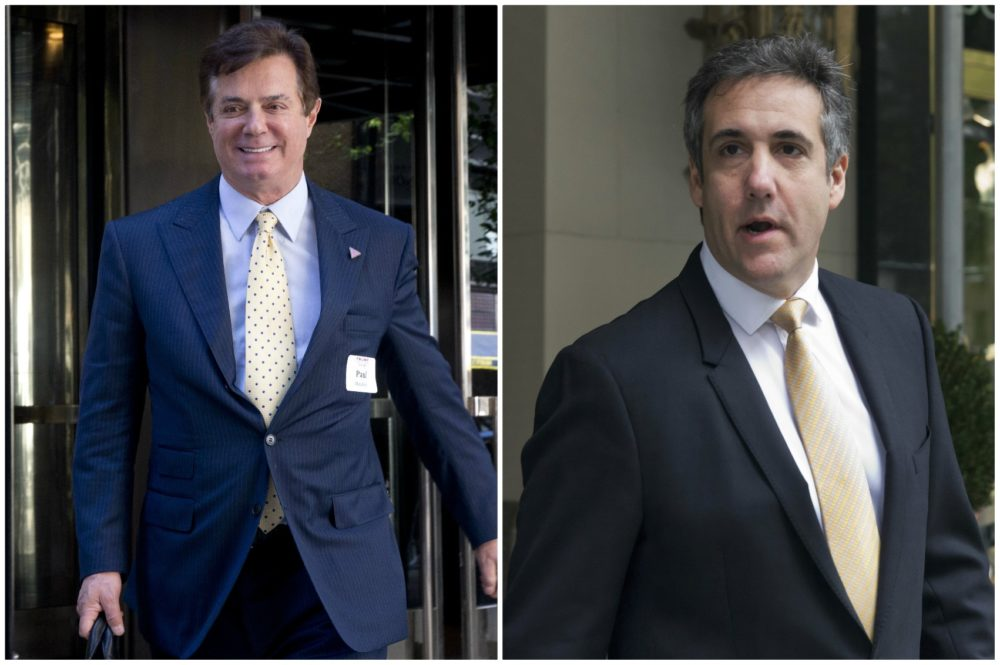 Image result for PHOTOS OF MANAFORT COHEN