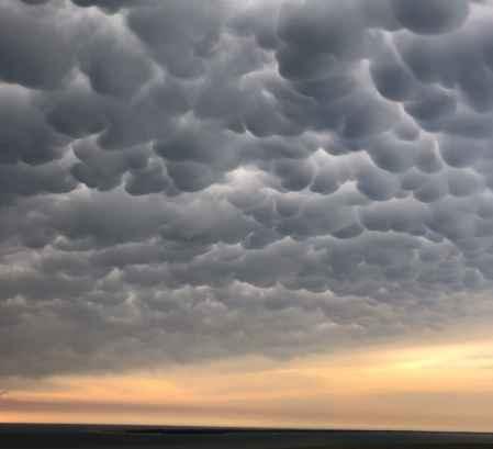瑪塔雲(Mamma cloud)被發現在法國卡弗雷角(Cap Ferret)上,由卡塔琳·範庫拉(Katalin Vancsura)發現,並發表在雲鑑賞協會的《一天的雲》中。 (卡塔琳·範庫拉)
