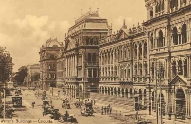 An old picture of the Writer's building in Kolkata