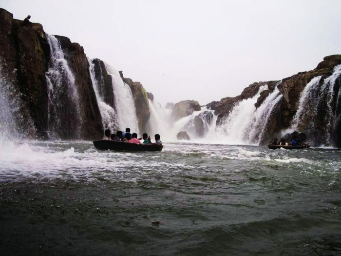 Coracle boat rides in Hogenakkal Waterfalls near Bangalore