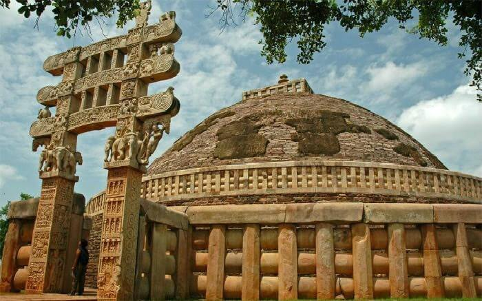 The eastern gateway of the Great Sanchi Stupa