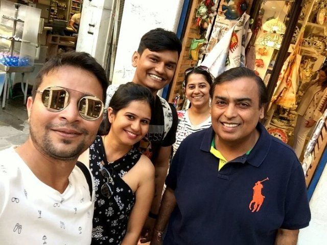 Image result for mukesh ambani pic on holiday full photo