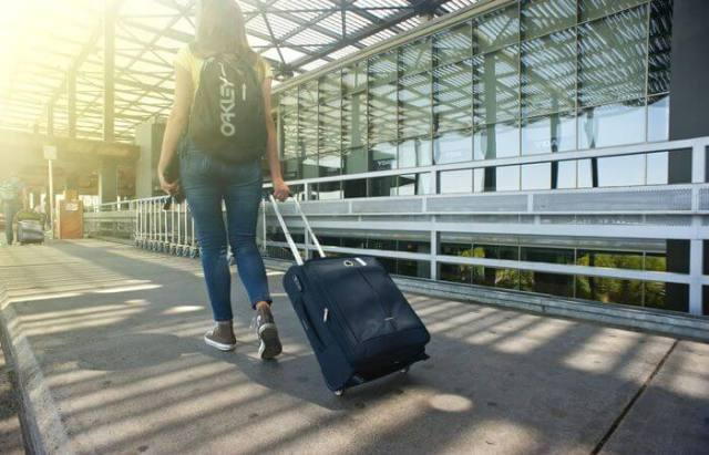 Lady going for trip