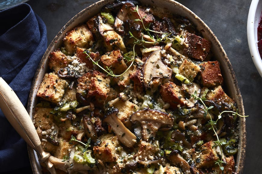 Wild Mushroom Stuffing   What s Gaby Cooking Wild Mushroom Stuffing