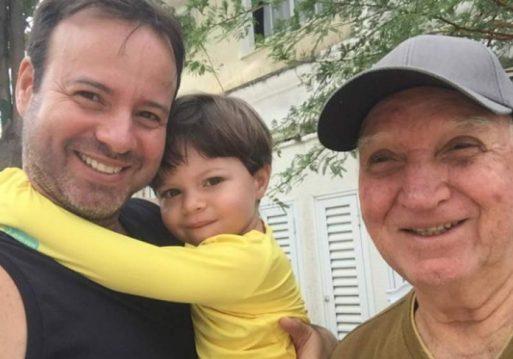 Fábio, Gael e Seu Francisco - Foto: arquivo pessoal