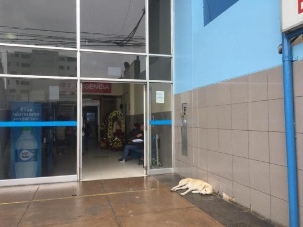 Ramsés na porta do hospital - Facebook Magaly Periche Jacinto