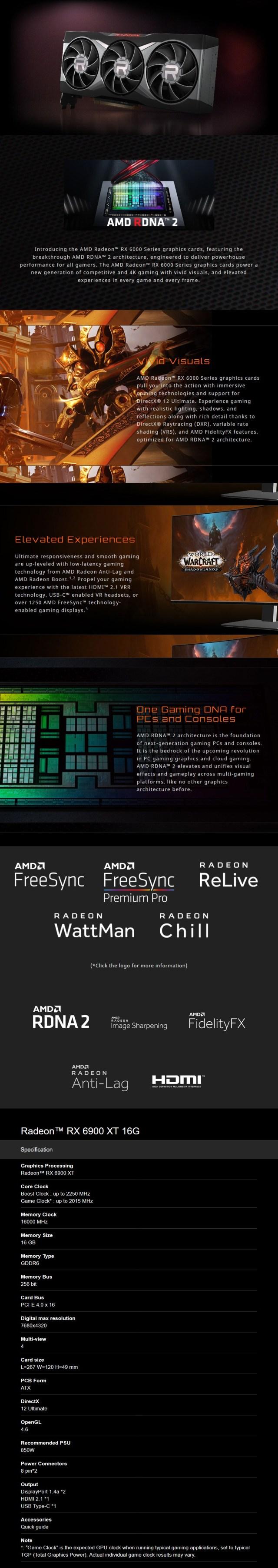 MSI Radeon 6900 XT 16GB Video Card - Overview 1