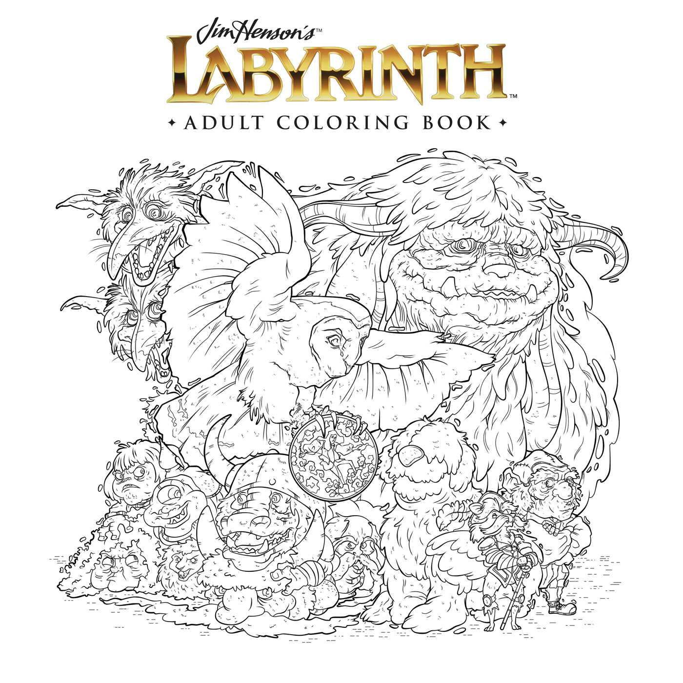 Jim Henson S Labyrinth Adult Coloring Book