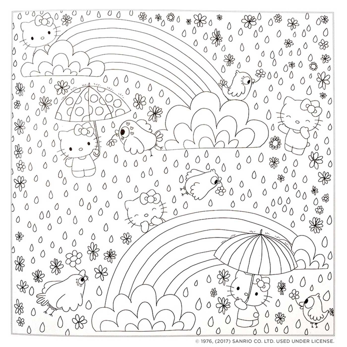 Hello Kitty Friends Coloring Book Book By Viz Unknown Official Publisher Page Simon Schuster