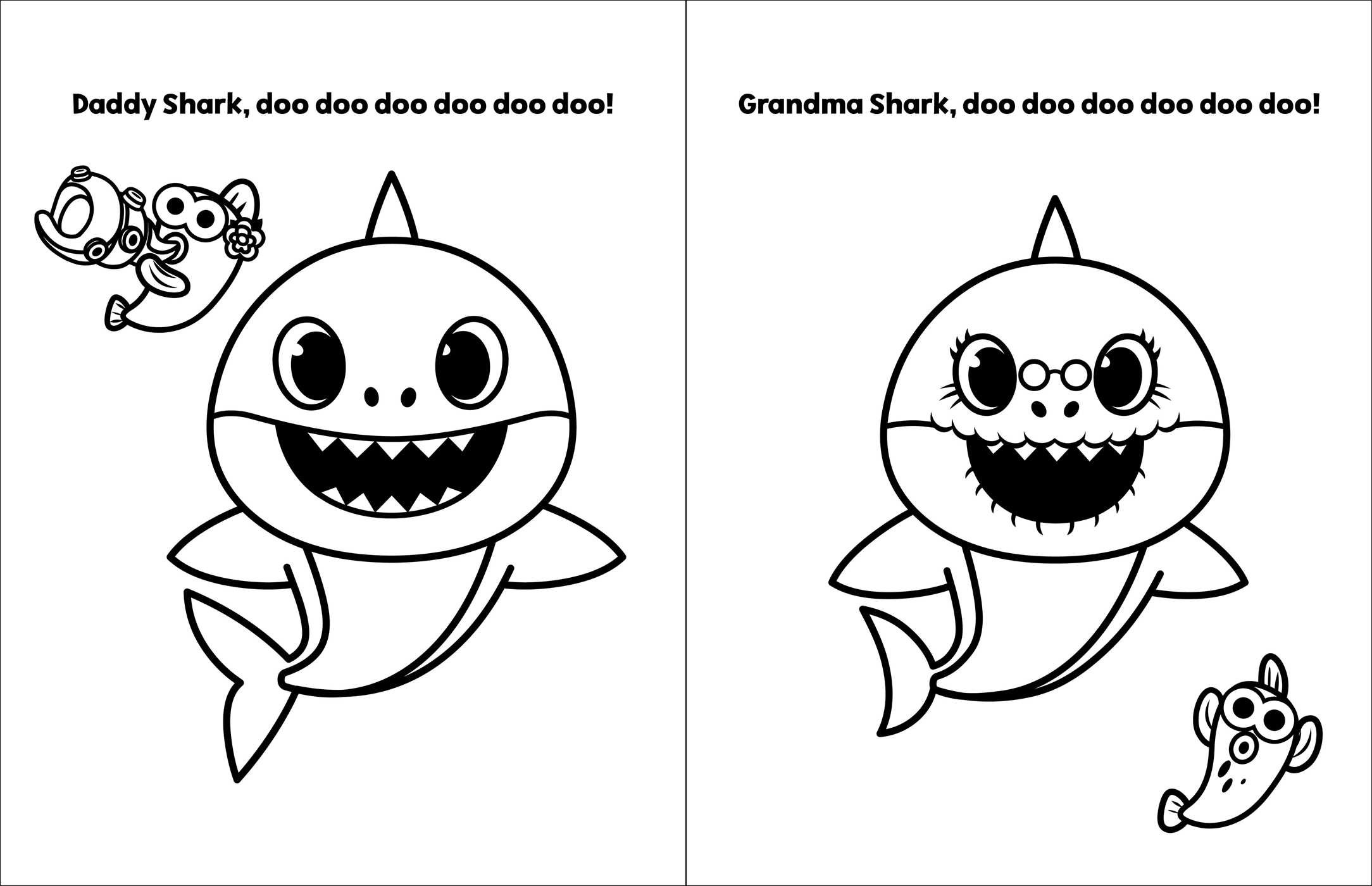 Mommy Shark Coloring Worksheet | Printable Worksheets and Activities for  Teachers, Parents, Tutors and Homeschool Families
