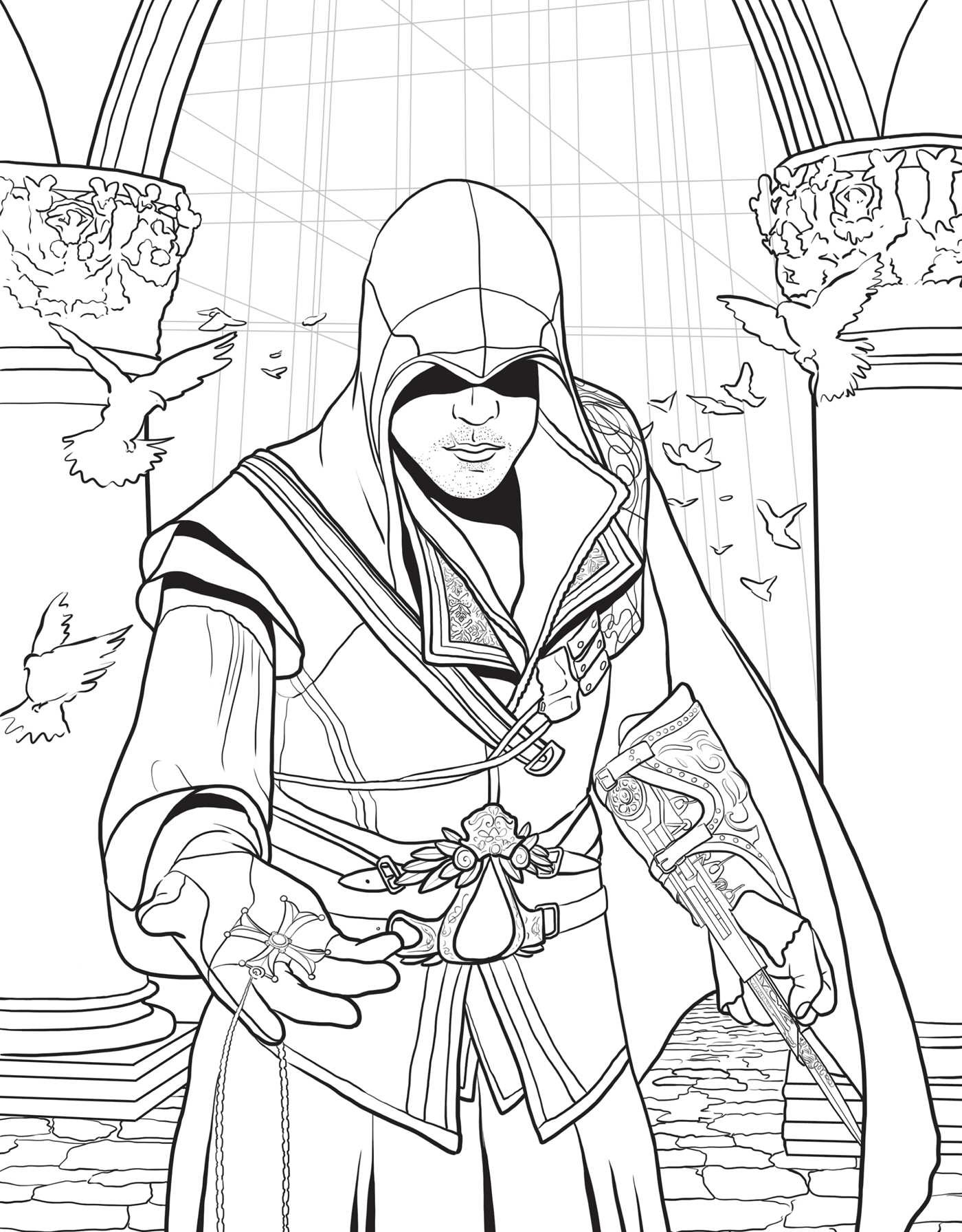 Assassin S Creed The Official Coloring Book
