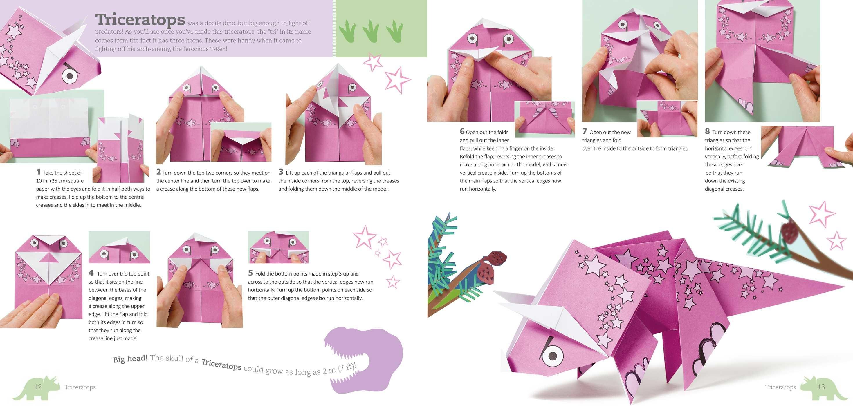 Fun Origami For Children Dino