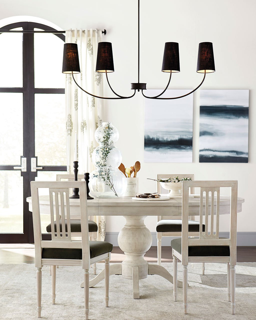 size dining room chandelier