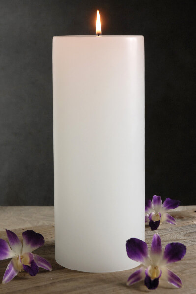 4x10 White Candle Unscented