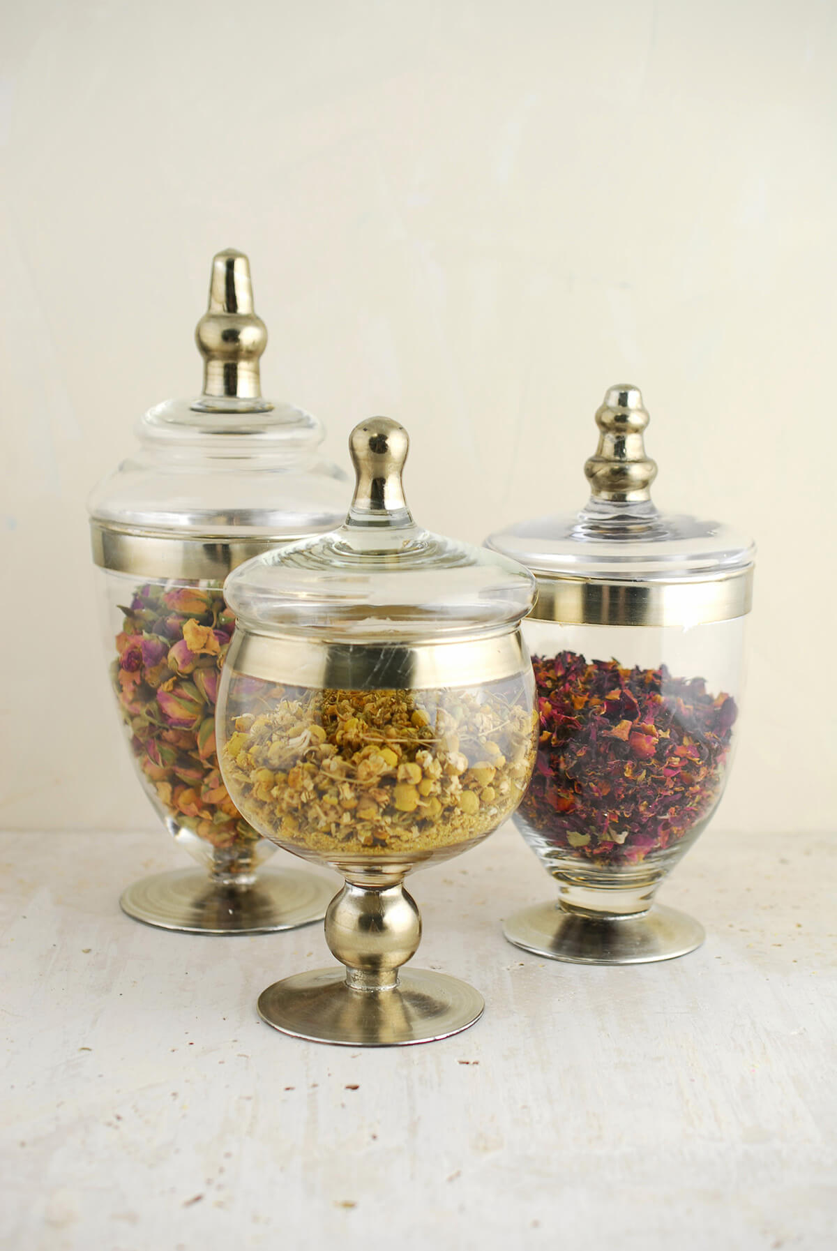 Set Of 3 Small Apothecary Jars 8 Amp 10