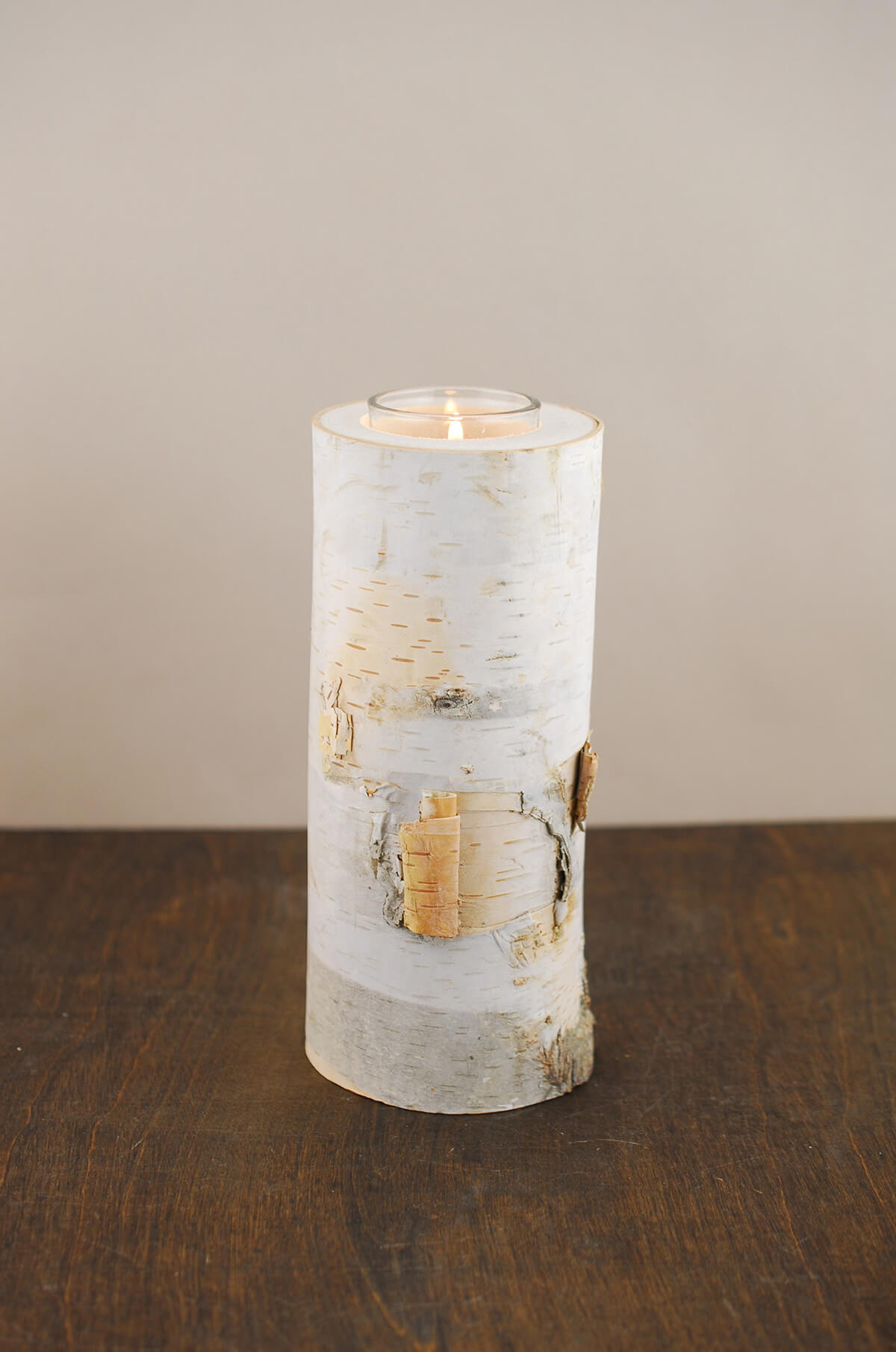 8 Natural Birch Tree Branch Candle Holders