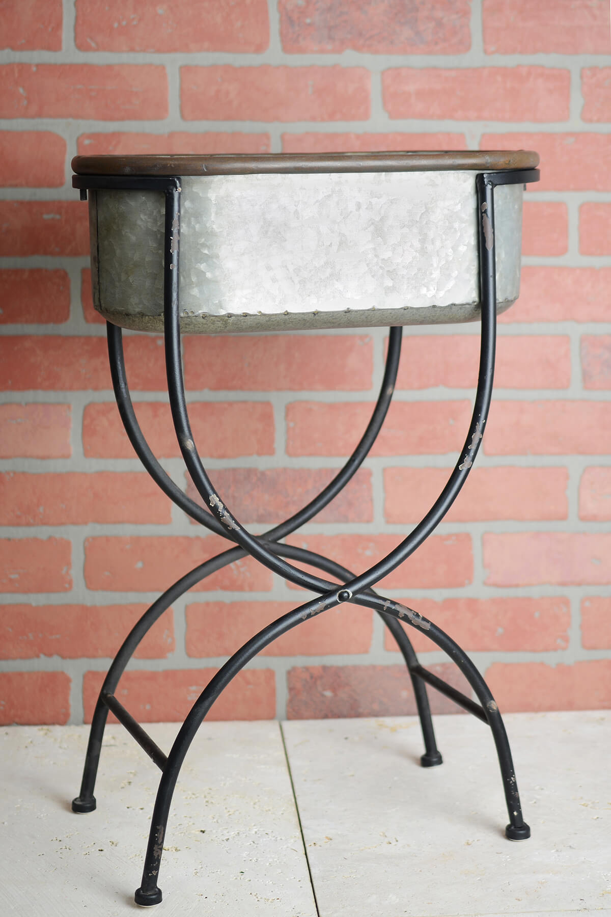 Galvanized Metal Wash Tub With Stand