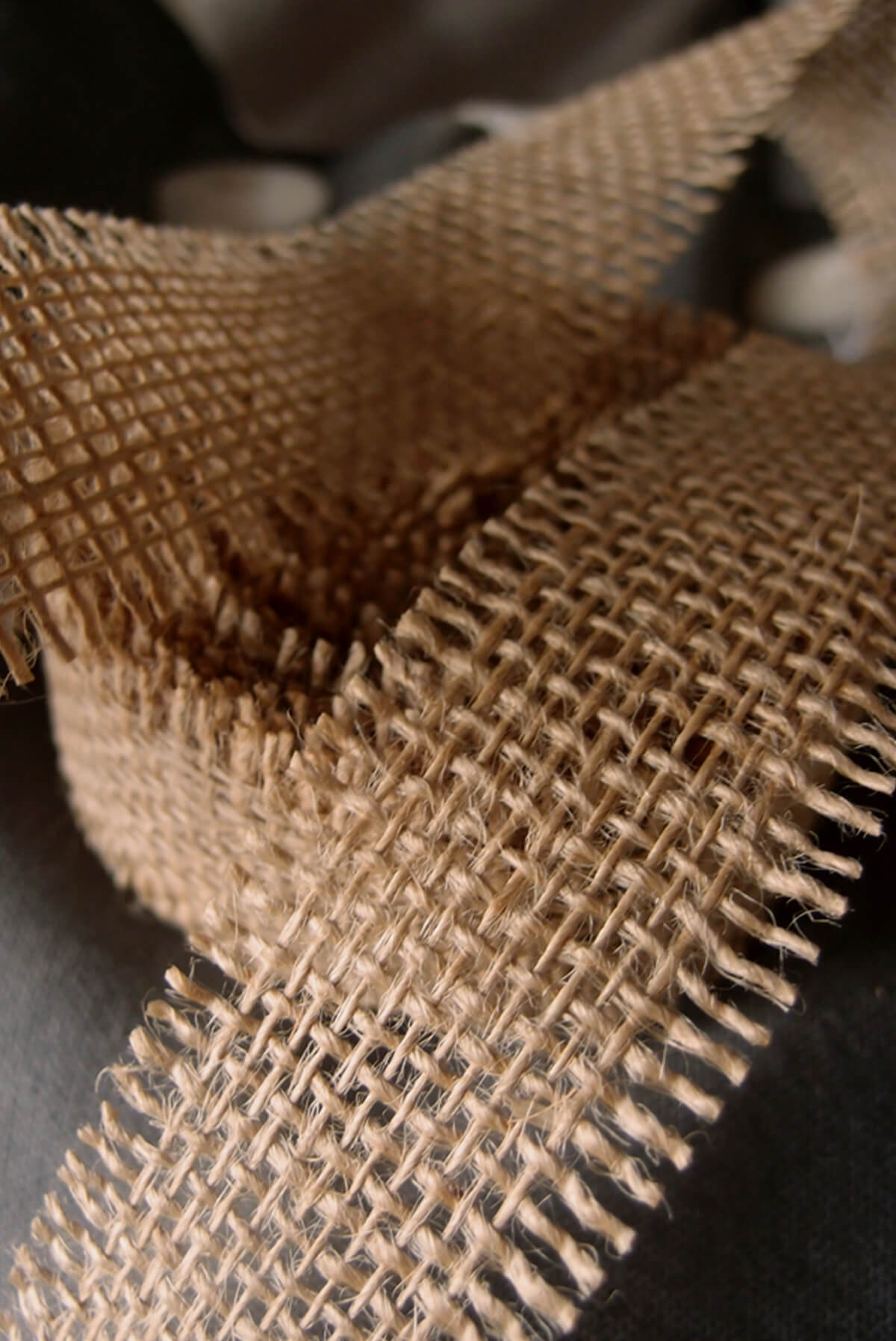 Natural Burlap Ribbon Open Weave 1 12 X 10 Yards