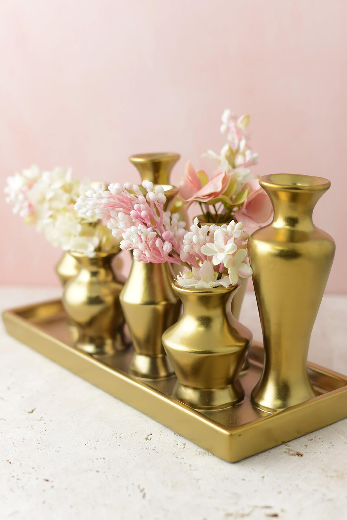 Gold Chic Bud Vase Set