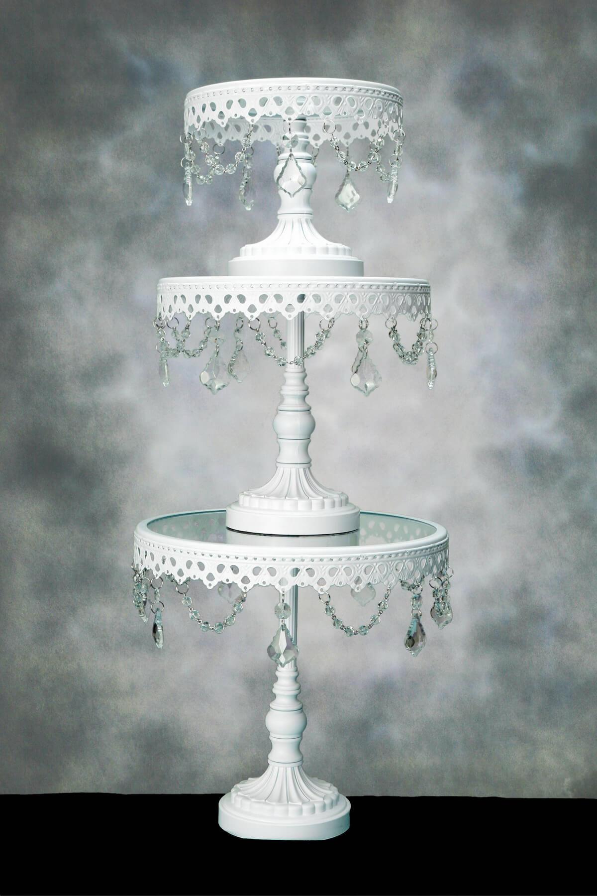 Crystal Cake Stands Pedestal Set Of 3