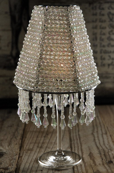 The Majestic Crystal Wine Glass Lampshade Candle Shade
