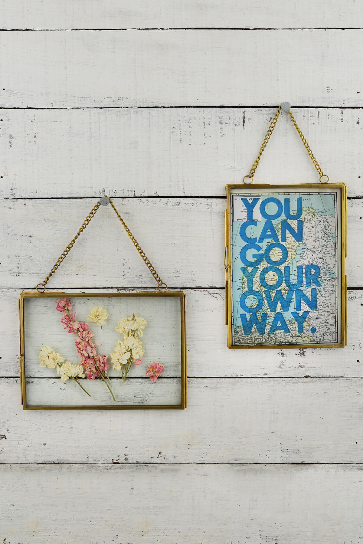 Hanging Double Glass Picture Frame 5x7in Set Of 2