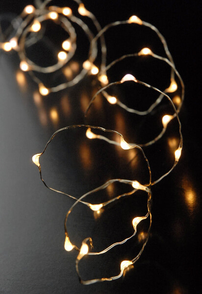 LED Battery Op Submersible Fairy String Lights Warm White