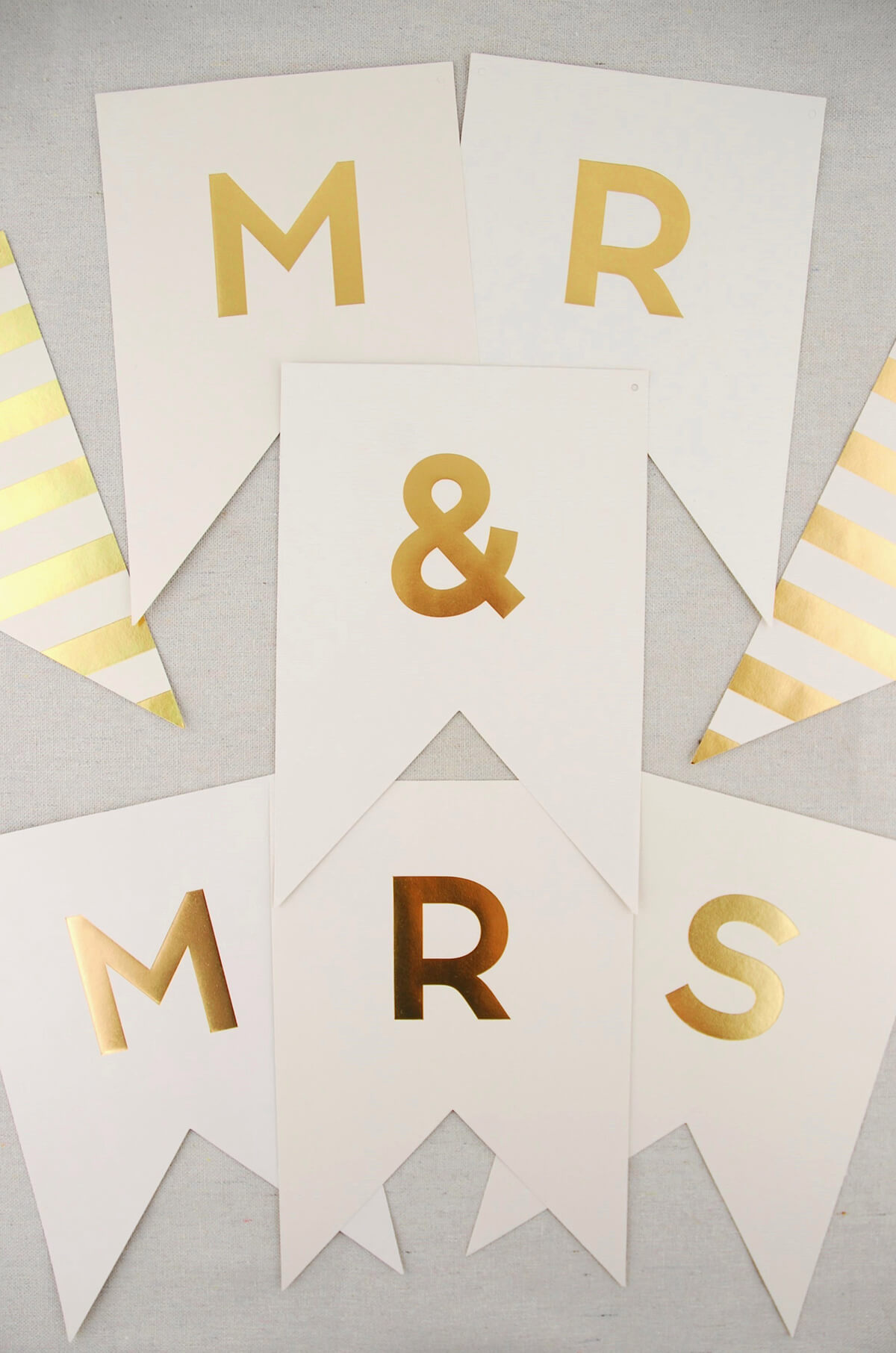 Mr Amp Mrs Banner Ivory And Gold