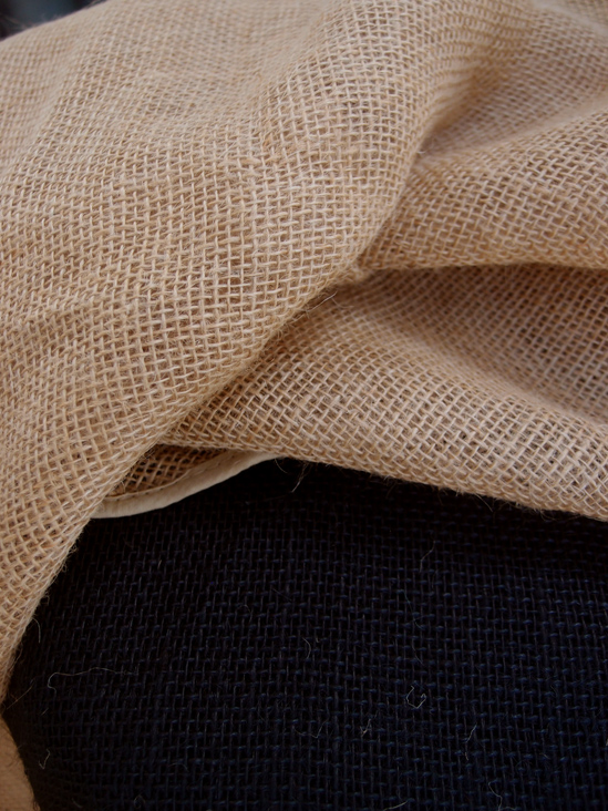 Round Burlap Tablecloth Finished Edges 60